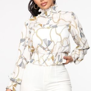 Fashion Nova Top Priority Blouse